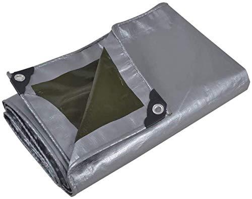 Lona gris grueso de tela impermeable a prueba de lluvia Carpa de protección solar al aire libre del paño de la lona corrediza cielo cortina de aislamiento multifunción (Color: Plata, Tamaño: 3x4m)