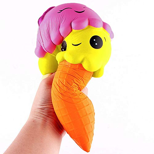 Squishy Toy für Kinder, Riesiges süßes Eis Kawaii Squishies Langsame Schritte Squeeze Toy Dekompression Squishies Anti-Stress Langsam steigendes Spielzeug Stressabbau Spielzeug für Kinder Erwachsene