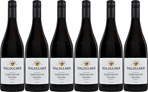 Waldulmer Winzergenossenschaft Pfarrberg Spätburgunder Kabinett 2018 Halbtrocken (6 x 0.75 l)