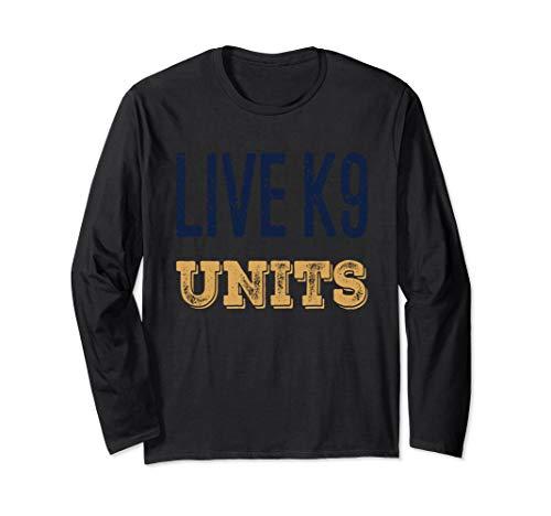 Live K9 Units PD Blue & Gold Design Long Sleeve T-Shirt