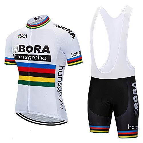 Bike Team Cycling Jersey World Champion 2018 Bike Clothing Summer Bike Clothes (Medium) White