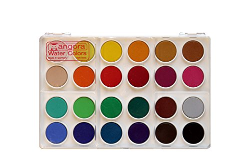Angora Watercolor Set , 24 Color Pan Set