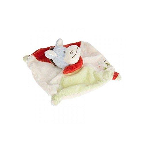Babynat–Doudou Babynat burro Ass estrella plana verde blanco rojo bn502–3493