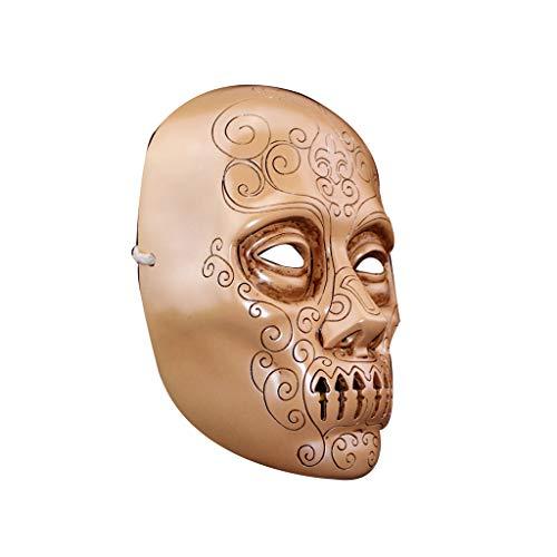 ZIJUAN Máscara De Resina para Adultos Máscara De Mortí