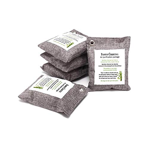 Check Out This Umiliss 5Pcs Bamboo Charcoal Air Purifying Bags, 200G Activated Charcoal Bags Naturally