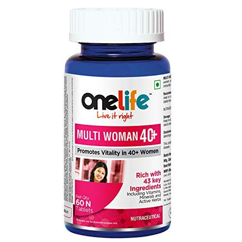 Onelife Multi Woman 40+ : MultiVitamin for women, MultiVitamin Supplement for old women, 60 Tablets