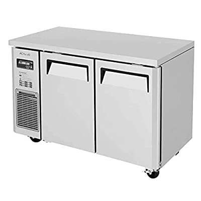 Turbo Air JUF-48S-N J Series Side Mount Narrow Undercounter Freezer, Two Section, Stainless Exterior