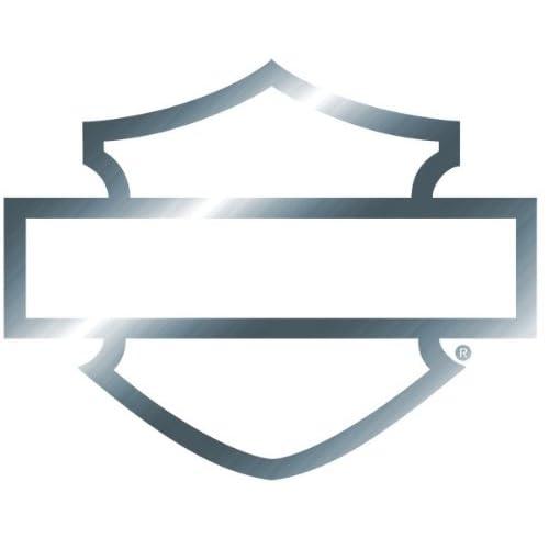 Harley davidson window bar shield chrome silhouette die cutz decal measures