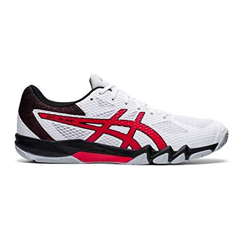 ASICS Schuh Gel-Blade 7 und 1 Paar Socken gratis Optionen 43,5 / US 9,5, weiß/rot