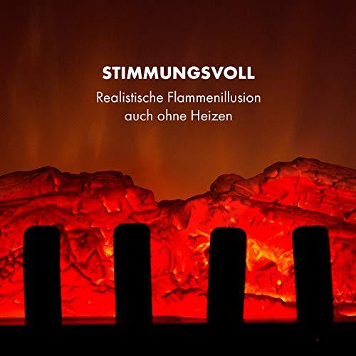 Klarstein St. Moritz Elektrischer Kamin Retro Kaminofen (Heizlüfter mit 1800W stufenlose Heizleistung, Simulation lodernder Kaminfeuer-Flammen, Dimmer-Funktion) Nostalgie-Design schwarz - 5