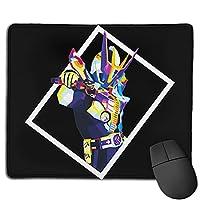 仮面ライダー マウスパッド、厚みのあるマウスパッド、ファッショナブルなpcアクセサリ、耐久性と滑り止め、使いやすさ、オフィス/ゲームの多機能製品の幅25x長さ30cm.