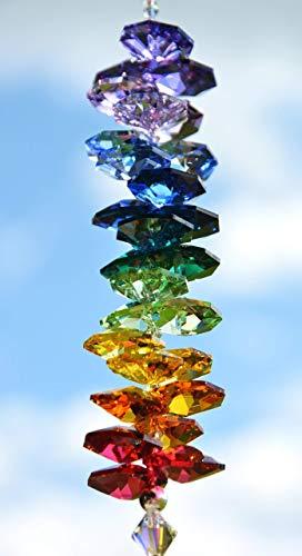 NEU! Sonnenfänger 'Rainbow', handgearbeitet aus funkelnden Kristallen von Swarovski® Geschenk Hochzeit Einzug Jubiläum Geburtstag
