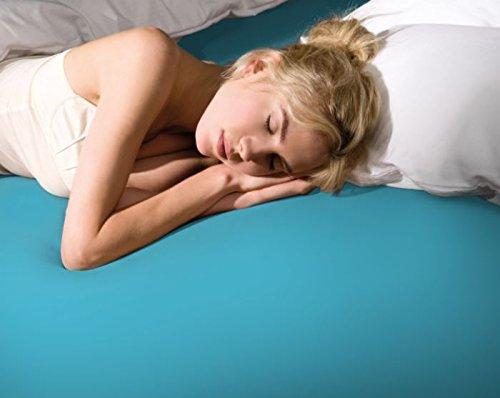 Formesse Bella Donna – ALTO 200/220–200/240 Turquoise Drap housse en jersey – Compatible avec lits Boxspring, hauteur du matelas jusqu'à 40 cm