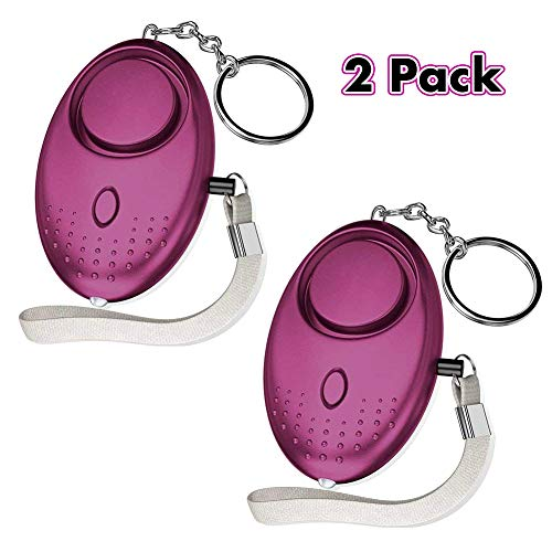Genubi Personal Alarm Siren Song, 140dB Safesound Personal Alarm Keychain with LED Light, Emergency Self Defense for Women, Kids, Elderly, Security Safe Sound Rape Whistle Safety Siren Alarms