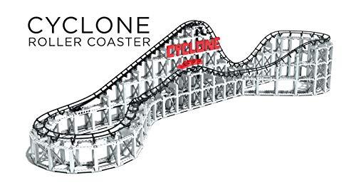 CDX Roller Coaster Cyclone CDXCYC01, Baustein Achterbahn, kompatibel mit allen bekannten Bausteinmarken, inklusive +900 Teile, mehrfarbig