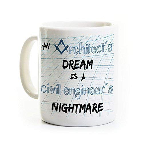 N\A Taza de café del Ingeniero Civil del Arquitecto - Taza de cerámica 11 onzas