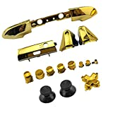 WPS Chrome Color ABXY Dpad Triggers Full Buttons Set Mod Kits for Newest Xbox One Slim/Xbox one S Controller with Screwdriver (Torx T6 T8) Set (Chrome Gold) for 1807 Version