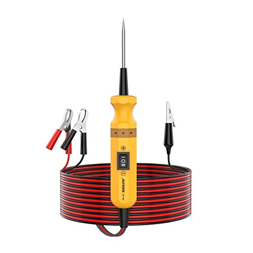 AUTOOL Power Circuit Probe Kit 6-24V Automotive Circuit Tester with Auto Electrical System Testing Functions (Digital Voltage Tester/Multimeter/Short Finder/Battery Tester/Power or Ground Supply)