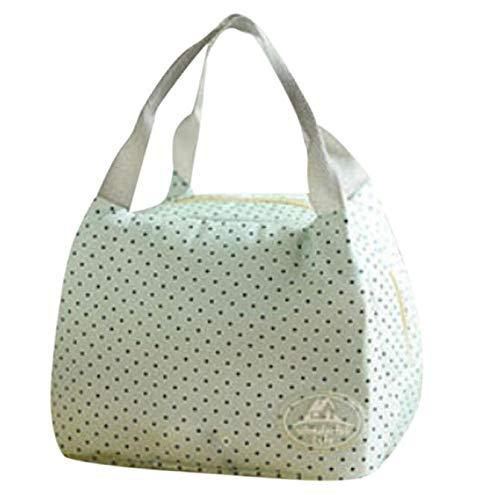 NEEKY Lunch Portable Tote Zipper Organizer Lunch Box Lunch Bag Enfant, Mode Sacs-Repas Sac à Main réutilisable pour Lunch Bag (21.5cm*16.5cm*17.5cm)