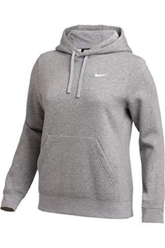 Nike Womens Pullover Fleece Hoodie (Grey, Large)