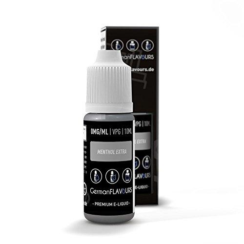 GermanFlavours E-Liquid - Menthol Extra Stark - 10ml (ohne Nikotin und Tabak)