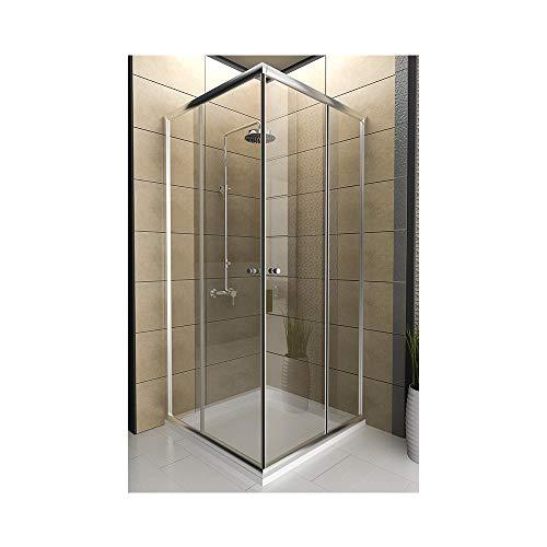 Cabina de ducha/ducha entrada por la esquina/90 x 190 cm/cabina de ducha/entrada por la esquina modelo Fugo/Top oferta especial