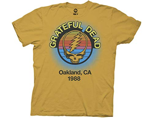 Ripple Junction Grateful Dead Adult Oakland 88 Light Weight T-Shirt 2XL Ginger