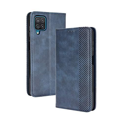 RonRun Funda para Samsung Galaxy M32, Carcasa cartuchera Tipo Libro de Magnético Tarjetero, Cuero PU Cierre Magnético Flip Folio Case Compatible con Samsung Galaxy M32 Azul