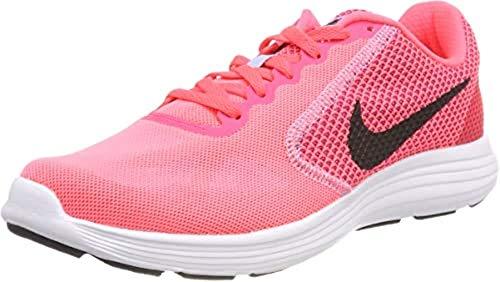 Nike Mädchen WMNS Revolution 3 Traillaufschuhe, Pink (Hot Punch/Black/Aluminum/White 602), 35.5 EU