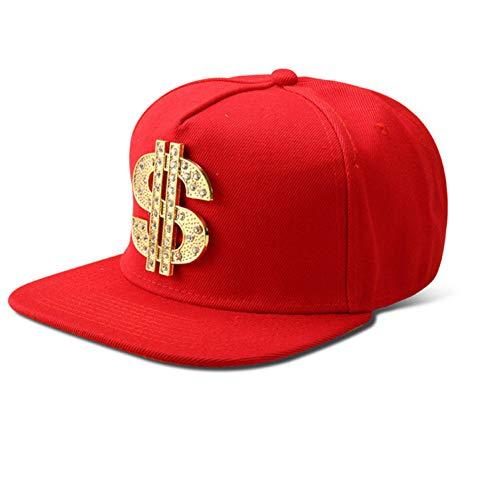 Casquette de BaseballChapeau Cap Vogue Bling Diamond Us Dollar $ Sign Argent Casquettes de Baseball Droite Rabat Snapback Hip Hop Chapeaux Hommes Femmes Cristal Cadeaux