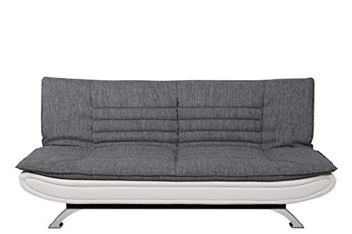 AC Design Furniture Bettcouch Jasper, B: 196 x T:98 x H: 91 cm, Stoff, Grau