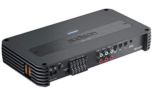 Audison SR 5.600 1000W 5 canali Classe D Amplificatore (4x 75W + 330W (4Ω) | 4x 115W + 550W (2Ω) | HPF/LPF/BAND/FULL | Bass Boost)