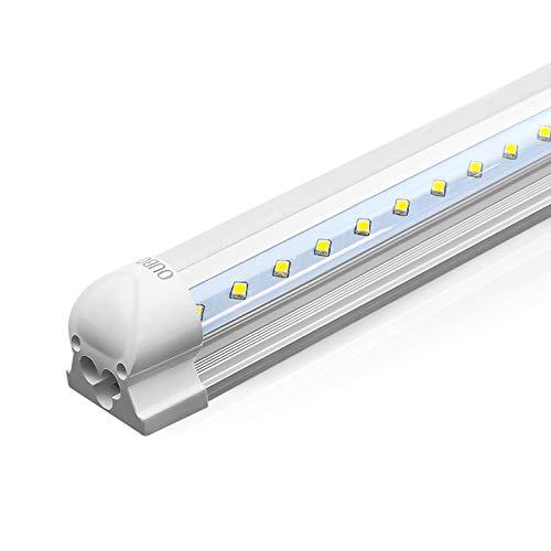 OUBO 120cm LED Leuchtstoffröhre komplett Set mit Fassung Neutralweiss 4000K 18W 2000lm Lichtleiste T8 Tube mit klarer Deck