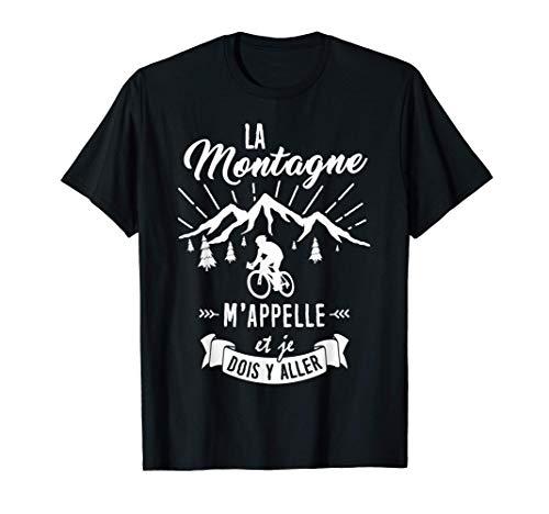 T Shirt Vélo Homme Femme Cyclisme la Montagne m'appelle T-Shirt