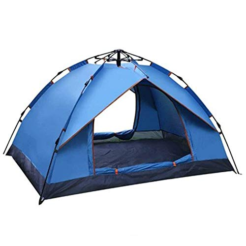 RongDuosi Blauw/groen Outdoor Tent Camping 2 Personen Automatisch Gratis Een Strandschaduw Tent Dubbele Nep Dubbele Luifel Outdoor Uitrusting Zwembed