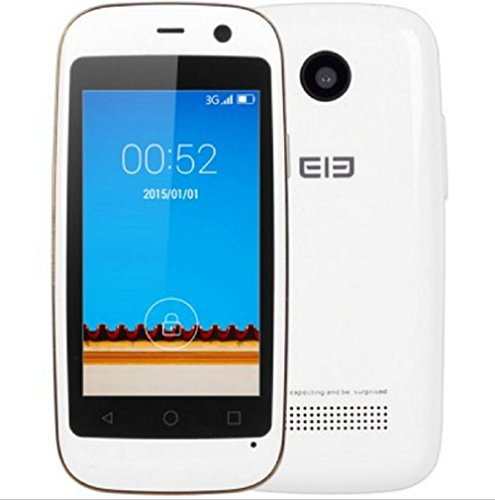 [Elephone Official Store] Elephone Q 3G 2.45 Zoll MTK6572W Dual Core 1.3 GHz 4 GB ROM, 512MB RAM Android 4.4 GPS Smartphone Weiß