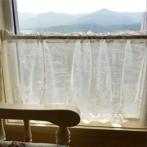 Herdergordijn stoffen gordijnen scheidingswand gordijn koffie gordijn keuken half gordijn vensterdecoratie 100x40 cm (39x16 inch)