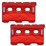 Electriduct Water Fillable Traffic Safety Plastic Barricade 53' Orange Polyethylene Vehicle Barrier