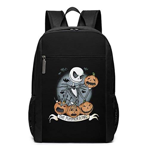 ZYWL Jack Skellington Laptop-Rucksack 17-Zoll-Reiserucksack Bookbag Bussiness Bag