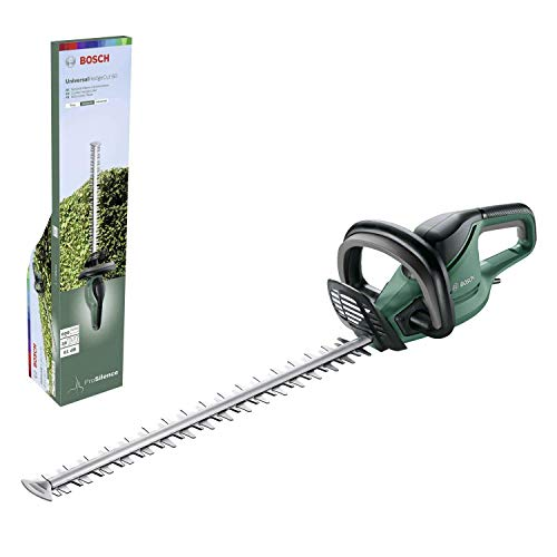 Bosch Tagliasiepi Elettrico UniversalHedgeCut 60 (480 Watt, Lunghezza Barra: 60 cm, per Siepi Medie, Spessore di Taglio: 30 mm, Confezione in Cartone)