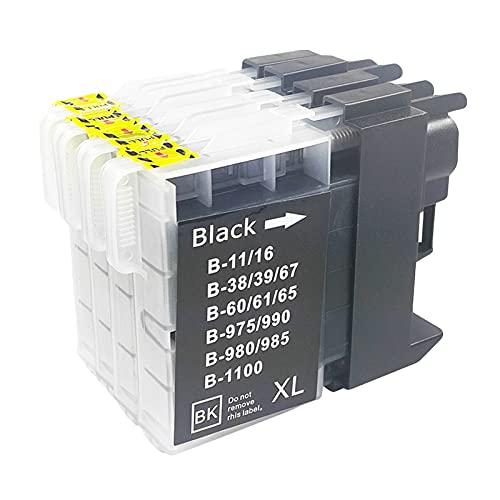 SXCD Cartuchos de tinta LC63 LC16 LC38 LC61 LC65 LC67 LC980 LC990 para Brother de repuesto para impresora DCP-145C 585CW 6690CN MFC-250C 930CDWN 5890CN J630W 4 combinaciones de colores x 1