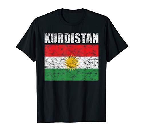 Kurdische Flagge Kurdistan Fahne Kurden Retro Vintage T-Shirt