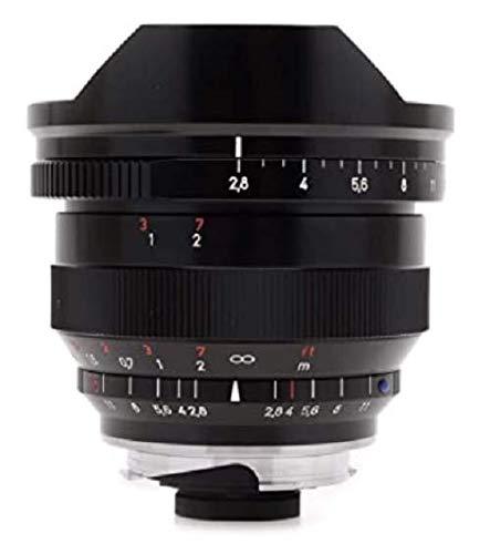 Zeiss Ikon Distagon T* ZM 2.8/15 Super-Weitwinkel-Kameraobjektiv für Leica M-Mount Entfernungsmesser Kameras, Schwarz (00000-1457-856)