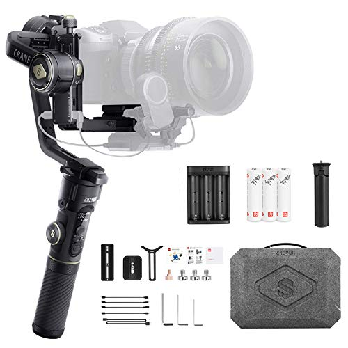 Zhiyun Crane 2S 3-Axis Handheld Gimbal Stabilizer for DSLR Camera Mirrorless Cameras Professional Video Stabilizer Compatible with Sony Nikon Canon Panasonic LUMIX BMPCC 6K Crane2S New zhi yun Crane 2