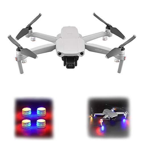 O'woda 4 Pcs Drone LED Luci notturne di Segnalazione di Volo Night Flying Light Lampada per Allarme per DJI Mavic Air 2S/Mini 2/Mini/PRO/MINI SE/Mavic 2/Spark Accessori (Luci rosse e blu lampeggianti)