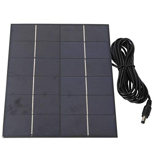 Keenso 5.5W 6V Panel Solar de silicio policristalino portátil Cargador de batería de reemplazo de Panel Solar DIY para luz de jardín Solar, Sistema de luz doméstica pequeña, luz de Calle Solar