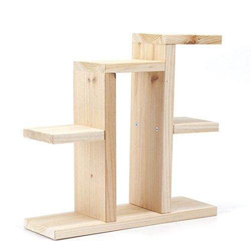 Blumentreppe Holz, Vicoki Mini Tabletop Pflanzen Storage Rack Pot Frame Stand Regal Schreibtisch Lagerregal, 31×10×34.5cm
