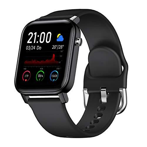 COULAX Smartwatch, 9 Sportmodi Fitness Tracker mit 1,4