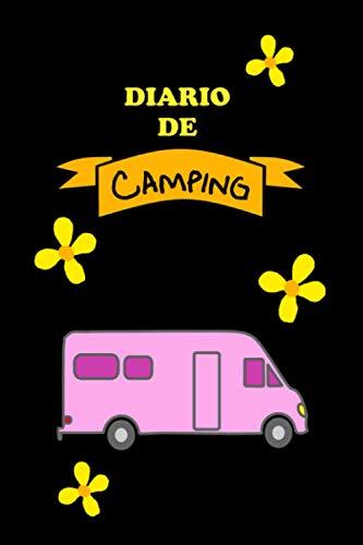 Cuaderno de diario de camping con autocaravana y flores - Accesorio autocaravana,...