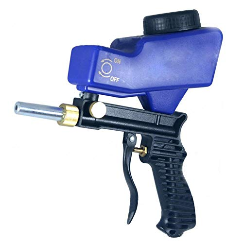 Great Features Of PROKTH Portable Gravity Sandblasting Gun,Miniature Rustproof Sandblasting Pistol,P...